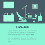 Modello di cure odontoiatriche Fotografie Stock Libere da Diritti