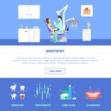 Modello di cure odontoiatriche Immagini Stock