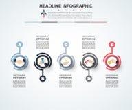 modello di 3D Infographic Visualizzazione di dati Può essere usato per lavoro Immagini Stock