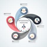 modello di 3D Infographic Visualizzazione di dati Può essere usato per lavoro Fotografia Stock