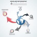modello di 3D Infographic Visualizzazione di dati Può essere usato per lavoro Immagini Stock Libere da Diritti
