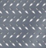 Modello di Diamond Metal Plate Seamless Vector Strato di alluminio ondulato Priorità bassa senza giunte del metallo Illustrazione Fotografia Stock