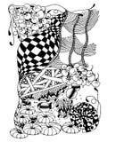 Modello di disegno astratto, insieme casuale degli elementi allineati, astrazione in bianco e nero della disposizione verticale,  royalty illustrazione gratis