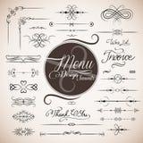 Modello di disegno del menu del ristorante Fotografia Stock
