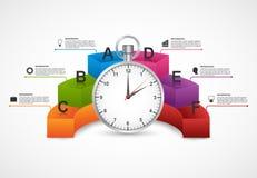 Modello di disegno di Infographics stopwatch illustrazione vettoriale