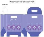 Modello di disegno di vettore per il contenitore di regalo Fotografie Stock