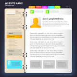 Modello di disegno di Web site. Fotografia Stock