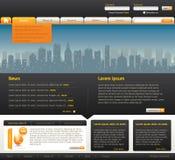 Modello di disegno di Web site Fotografie Stock Libere da Diritti