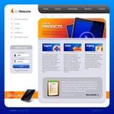 Modello di disegno di Web site Fotografia Stock Libera da Diritti
