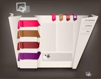 Modello di disegno di Web site con il origami. Fotografia Stock Libera da Diritti
