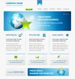 Modello di disegno di Web site di affari con terra Fotografie Stock
