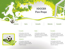 Modello di disegno di Web site di calcio Fotografie Stock