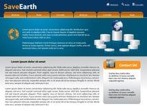Modello di disegno di Web site di vettore Fotografie Stock Libere da Diritti
