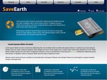 Modello di disegno di Web site di vettore Fotografie Stock