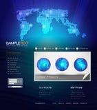 Modello di disegno di Web site di vettore Fotografia Stock Libera da Diritti
