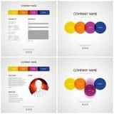Modello di disegno di Web site di vettore Immagine Stock