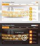 Modello di disegno di Web site, vettore Fotografie Stock