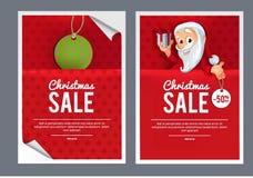 Modello di disegno di vendita di Natale Immagine Stock
