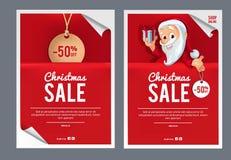 Modello di disegno di vendita di Natale Fotografia Stock