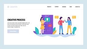 Modello di disegno di Web site di vettore Successo creativo del gruppo di affari e di idea teamwork Concetti della pagina di atte illustrazione vettoriale