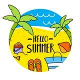 Modello di estate Illustrazione Vettoriale