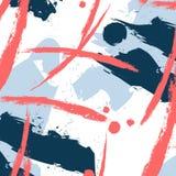 Modello di fantasia di vettore con gli elementi di pennellata Stampa su ordinazione del tessuto Carta da parati grafica del tessu illustrazione di stock