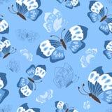 Modello di farfalle sveglio senza cuciture Fotografie Stock Libere da Diritti