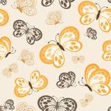 Modello di farfalle sveglio senza cuciture Fotografie Stock