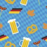 Modello di festival della birra di Oktoberfest Illustrazione di Stock