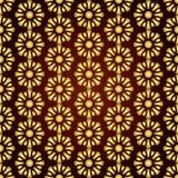 Modello di fiore astratto dell'oro su fondo pastello Immagine Stock