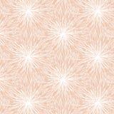 Modello di fiore bianco di contorno su fondo rosa Immagine Stock