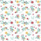 modello di fiore colourful della molla senza cuciture illustrazione vettoriale