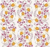 Modello di fiore d'annata astratto senza cuciture disegnato a mano delicato Immagini Stock