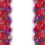 Modello di fiore del papavero Fotografia Stock