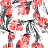 Modello di fiore dell'acquerello Fotografia Stock Libera da Diritti