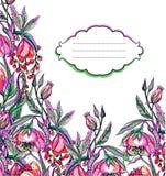 Modello di fiore di vettore del materiale illustrativo illustrazione vettoriale