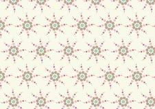 Modello di fiore dolce del cerchio su colore pastello Fotografia Stock Libera da Diritti