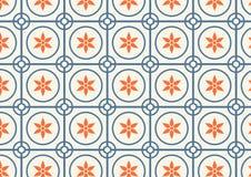 Modello di fiore e del cerchio su colore pastello Immagine Stock Libera da Diritti
