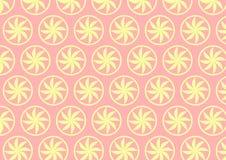 Modello di fiore giallo-chiaro della curva su fondo pastello Immagine Stock Libera da Diritti