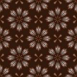 Modello di fiore marrone senza cuciture Immagine Stock