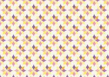 Modello di fiore porpora e giallo classico su colore pastello Immagini Stock Libere da Diritti