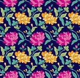 Modello di fiore senza cuciture del tessuto fotografia stock libera da diritti