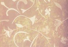 Modello di fiore sul vetro ondulato del fondo Immagini Stock