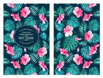 Modello di fiore tropicale illustrazione di stock