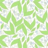 Modello di fiori della primavera Reticolo blu e bianco illustrazione di stock
