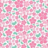 Modello di fiori rosa senza cuciture Immagine Stock Libera da Diritti