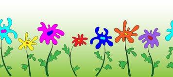 Modello di fiori semplice orizzontale senza cuciture illustrazione vettoriale