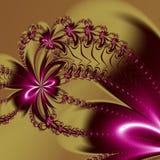 Modello di frattale del fiore Potete usarlo per gli inviti, coperture del taccuino, casse del telefono, cartoline, carte, ceramic illustrazione vettoriale