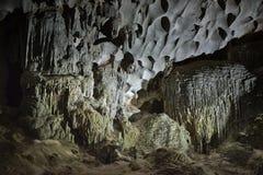Modello di giallo di Thien Cung Cave Heavenly Palace Cave fotografia stock libera da diritti