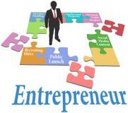 Modello di giovane impresa del ritrovamento dell'imprenditore Immagine Stock Libera da Diritti